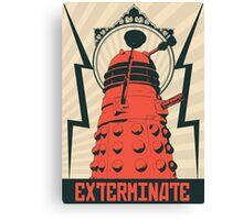 Dr Who Dalek Canvas Print