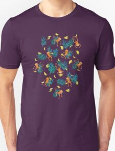 Tropical Monkey Banana Bonanza on Blush Pink Unisex T-Shirt