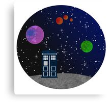 The Blue Box in the Outer Space. Canvas Print
