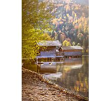 Autumn Lakeside  Photographic Print