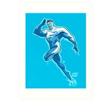 Superman Blue 1990s JLA Art Print
