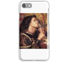 Dante Gabriel Rossetti - Joan of Arc Kissing the Sword of Deliverance iPhone Case/Skin