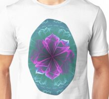 Ornate Blossom in Fuchsia Unisex T-Shirt