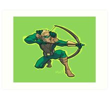 Green Arrow 1990s JLA Art Print