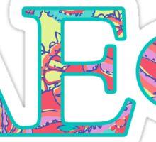 Alpha Epsilon Phi Pattern  Sticker