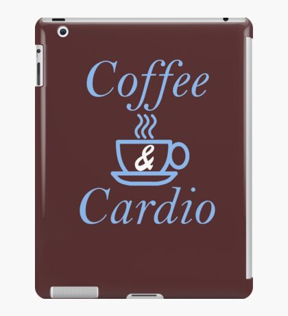 Coffee and Cardio Blue iPad Case/Skin
