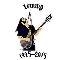 Tribute to Ian Lemmy Kilmister (Motorhead) Photographic Print