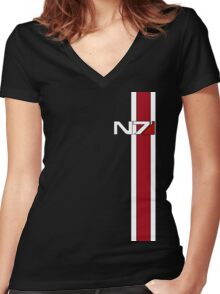 Mass Effect N7 Women's Fitted V-Neck T-Shirt