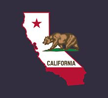 State of California Grizzly Bear and Flag Unisex T-Shirt