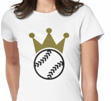Softball crown  Womens Fitted T-Shirt