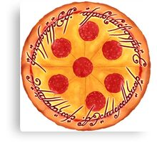 The One Pizza Canvas Print