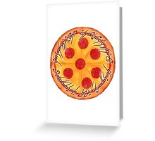 The One Pizza Greeting Card