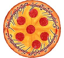 The One Pizza Photographic Print