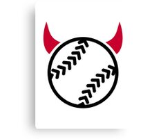 Softball devil Canvas Print