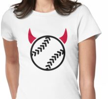 Softball devil Womens Fitted T-Shirt