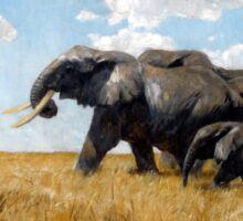 Kuhnert's Elefanten auf der Wanderung Sticker
