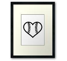 Softball heart Framed Print