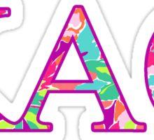 Kappa Alpha Theta Pattern Sticker