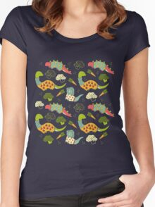 Eat Your Veggies in Brights Women's Fitted Scoop T-Shirt