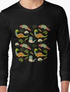 Eat Your Veggies in Brights Long Sleeve T-Shirt