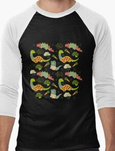 Eat Your Veggies in Brights Men's Baseball ¾ T-Shirt