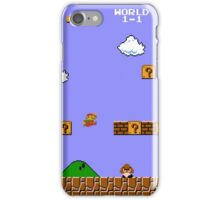 MARIO - WORLD 1-1 iPhone Case/Skin
