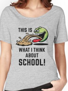 This Is What I Think About School! Women's Relaxed Fit T-Shirt