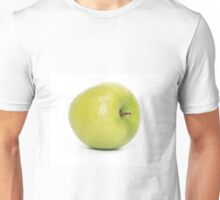 Green apple on white background Unisex T-Shirt