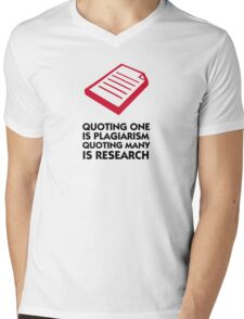 Plagiarism and research Mens V-Neck T-Shirt