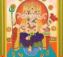 Ganesha - Remover of Obstacles by Adriana Barone