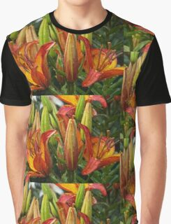 Lilies After Heavy Rain Graphic T-Shirt