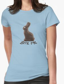 Choco Bunny Bite Womens Fitted T-Shirt