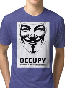 Guy Fawkes - Occupy Tri-blend T-Shirt