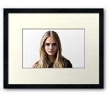 Cara Delevingne Framed Print
