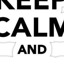 Keep calm and play Softball Sticker