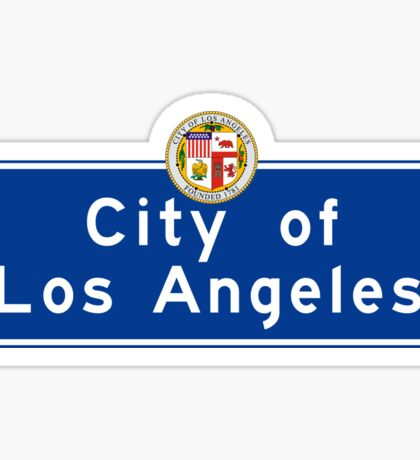 City of Los Angeles, Road Sign, California Sticker