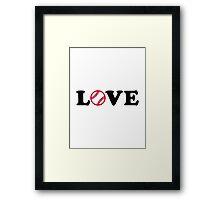 Softball love Framed Print