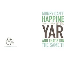 Mug - Money Can't Buy Happiness by littlemcrochet