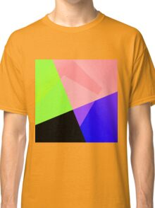Trendy Bright Chic Color Blocks Pattern Classic T-Shirt