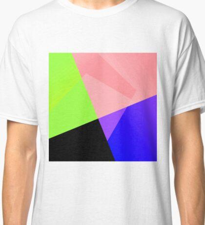 Trendy Bright Chic Color Blocks Pattern Classic T-Shirt