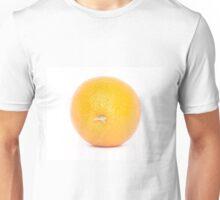 Orange on white background Unisex T-Shirt