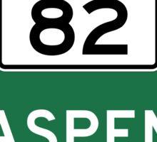 Aspen, Road Sign, Colorado Sticker