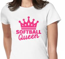 Softball queen Womens Fitted T-Shirt