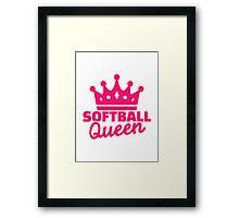 Softball queen Framed Print