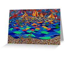 DANCING BY THE SEA Greeting Card