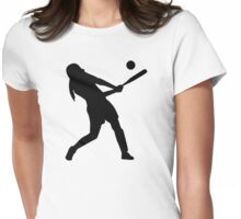 Softball batter Womens Fitted T-Shirt