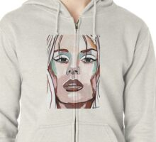 Lana Del Rey my version Zipped Hoodie