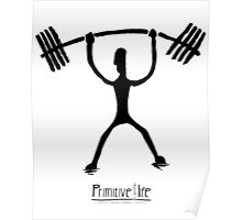 Weight Lifting Overhead Poster