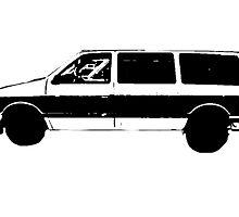 El Camino Car Outline - The Black Keys by emmarly