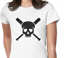 Softball skull Womens Fitted T-Shirt